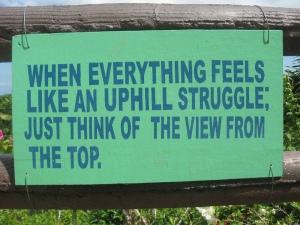 11uphill struggle