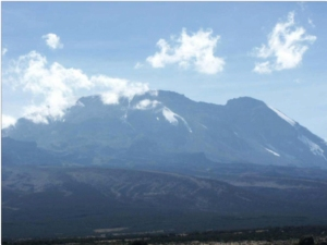 Kibo, the summit crater of Kilimanjaro, viewed from Shira Plateau  (Photo credit:  Mark Horrell www.markhorrell.com)